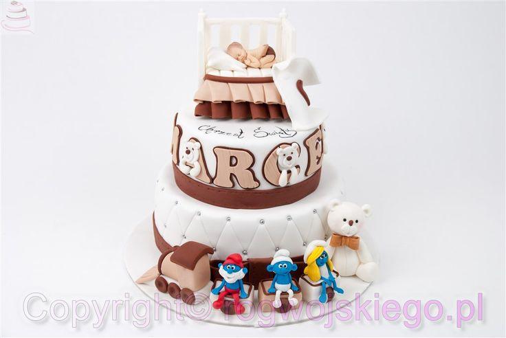 tort na chrzest dla chłopca, chrzciny, gdańsk, trójmiasto, pomorskie, pracownia tortów, torty dla dzieci, pomysł na prezent http://rogwojskiego.pl
