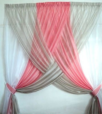 Beautiful and stylish curtain ideas. This one is beautiful and could even dress up a wall.