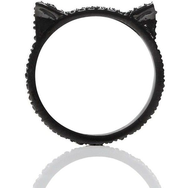 Kate Spade Jazz Things Up Pave Cat Ear Ring ($58) ❤ liked on Polyvore featuring jewelry, rings, accessories, kate spade charm, cat charm, charm rings, kate spade ring and kate spade