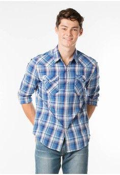 Pria > Pakaian > Atasan > Kemeja > Levi's Classic Western Shirt - Sousaphone Dutch Blue > LEVI'S