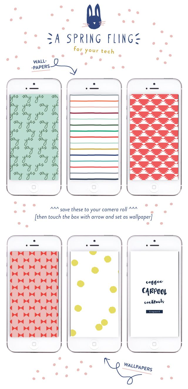 spring flings, fun new fabrics and freebies for your tech.