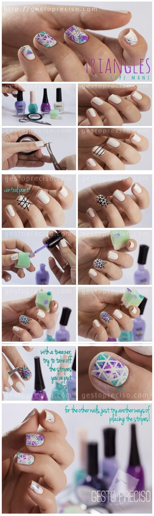 Nail art tutorial #nailart #nail #nails #nailpolish