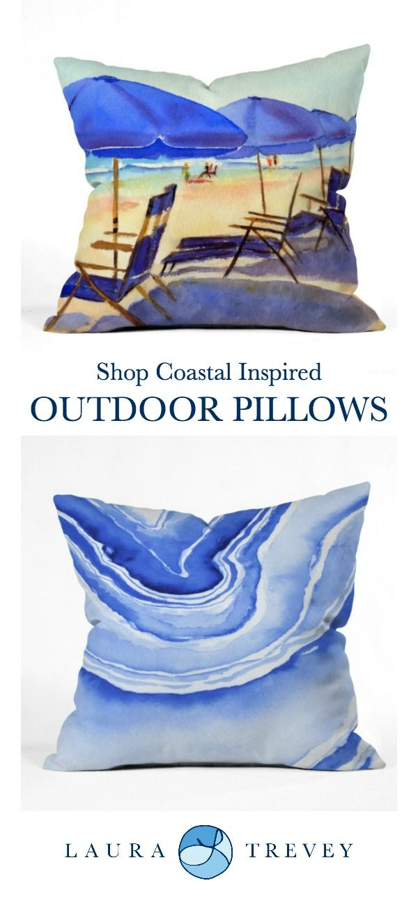 Coastal Inspired Outdoor Pillows with UV Protection and Mildew ...