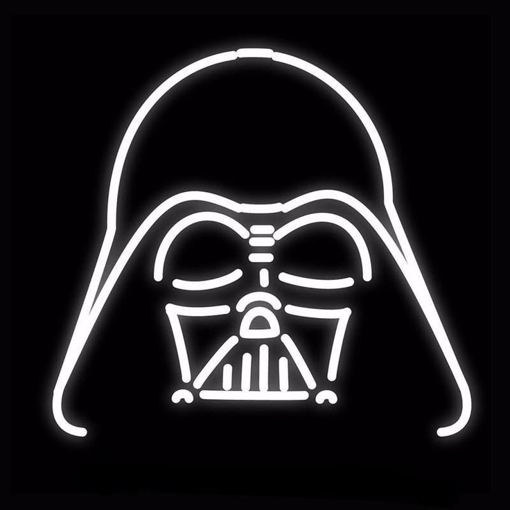 Darth Vader Star Wars Neon Bulbs Sign 18x18
