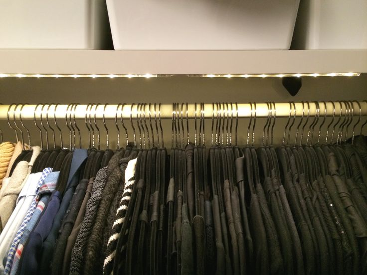 Love Ikeau0027s LED Strip Lighting For Closets, By Laura Cattano.