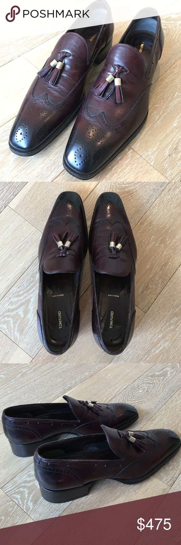 Tom Ford dark red/ black shoes Beautiful Tom Ford loafers, dark red with black fade. Only worn a few times, with serial number, all leather. Tom Ford Shoes Loafers & Slip-Ons