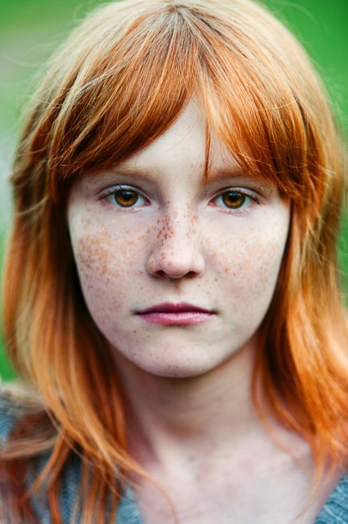 Redhead With Brown Eyes Very Striking For Your Red Board