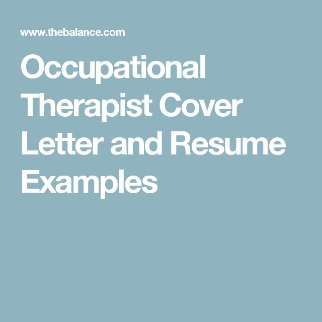 42 best Ot resume images on Pinterest Occupational therapist - occupational therapist resume