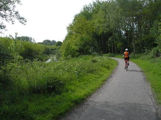 Vlak fietsen in het Heuvelland