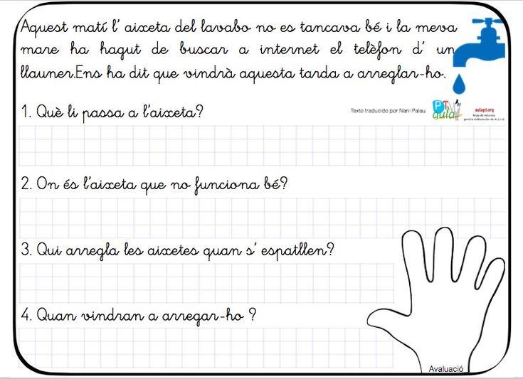 10 nuevas fichas de comprensión lectora de frases cortas en catalán