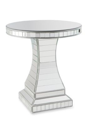Southern Enterprises Liliana Mirrored Accent Table - Silver - 26 In.