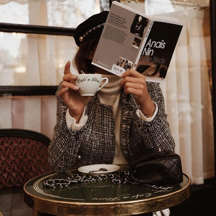 Audrey Leighton Rogers' coffee break at Cafe de Flore in Paris, France