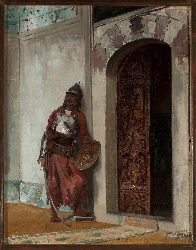 Stanisław Chlebowski, Warta u wrót seraju, 1876-77 | Dom Kultury LSM