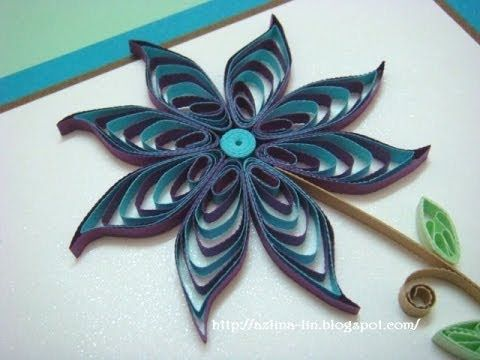 How to make a two tone cascading loops flower using a quilling comb
