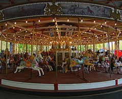 The Merry Go Round - beautiful old carousel right in the centre of Canberra city. My boys love riding this!