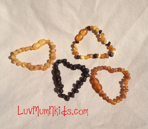 Certified RAW Baltic Amber teething bracelet SAFETY by luvmumNkids, $9.00