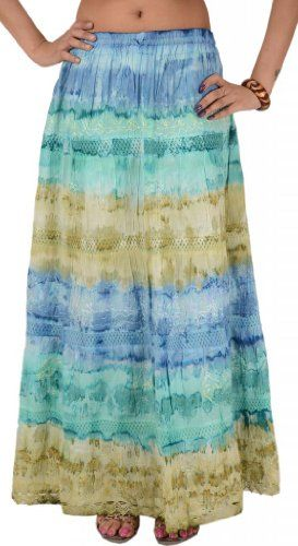 WOMAN LONG SKIRT COTTON TIE DYE MAXI... for only $19.99