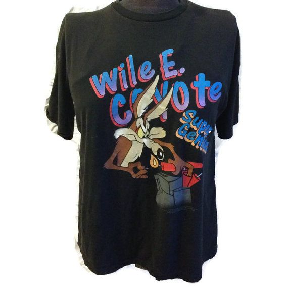 90's Looney Tunes Tshirt / 1990's Wile E. Coyote by RetroFreshTees, $25.00