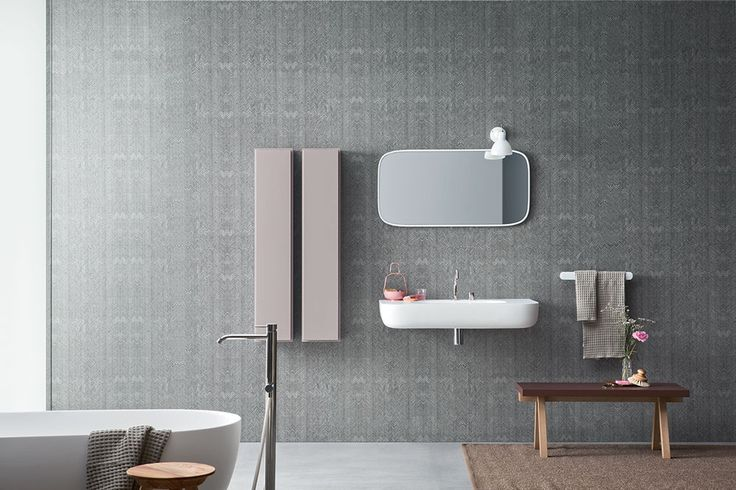 Texture decoration - Esperanto + Fibra, design by Monica Graffeo #rexa #design #bathroom #bath