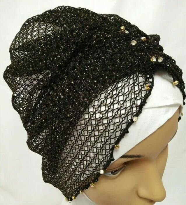 >> Click to Buy << hijab cover fancy style shimmer cap hand beading wrap hat khaleeji hijab popular cover shawl free ship #Affiliate