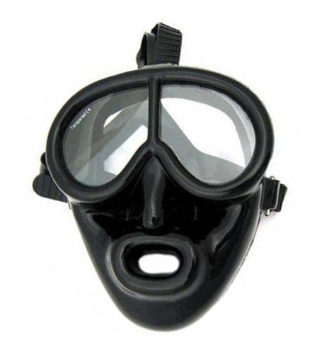 Full Face Black Rubber Dive Mask - Scuba Mask by IST. Full Face Black Rubber Dive Mask - Scuba Mask.