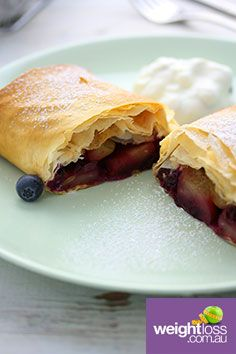 Apple & Blueberry Strudel. #HealthyRecipes #DietRecipes #WeightLossRecipes weightloss.com.au