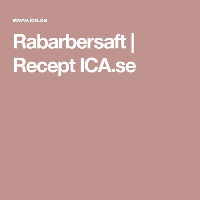 Rabarbersaft | Recept ICA.se