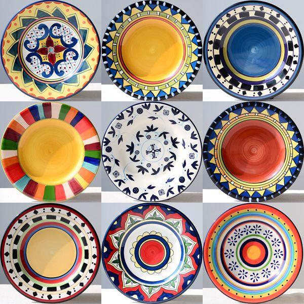 Посуда ручная роспись пластины 8.5 квартира западная блюдо украшение тарелка висит табличка диск
