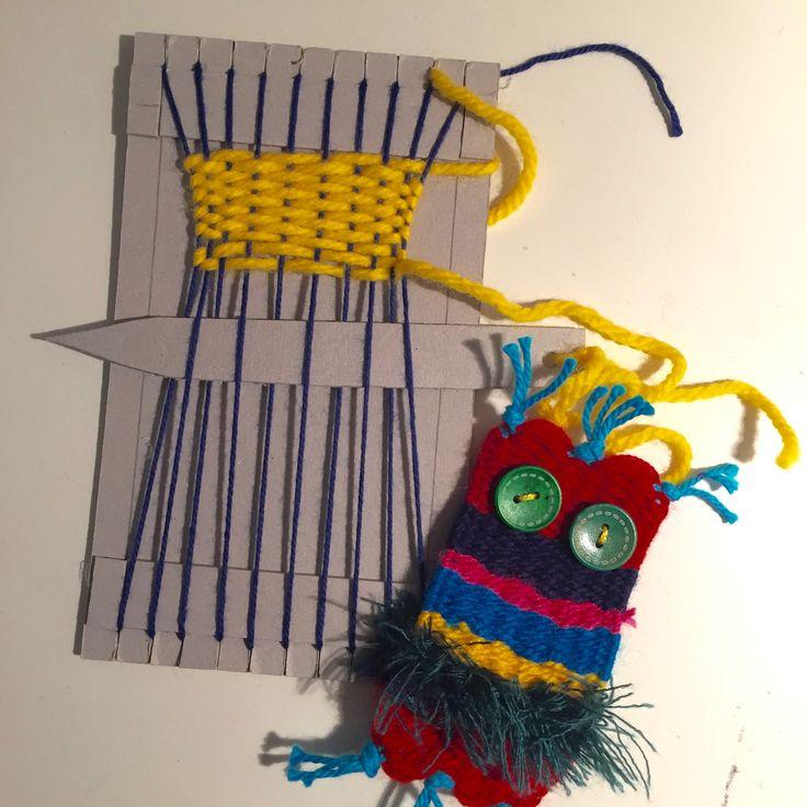 Weben 2 klasse textiles werken pinterest - Eulen gestalten ...