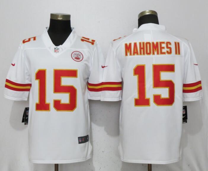 new arrival 76505 ea429 Men Kansas City Chiefs 15 Mahomes ll White Vapor Untouchable ...