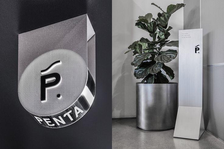 Penta Cafe Branding & Interior by POP & PAC  http://mindsparklemag.com/design/penta-cafe-branding-interior/