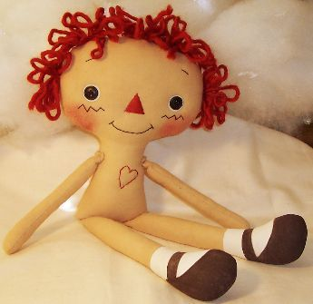 Doll making tutorial, how to make a rag doll.