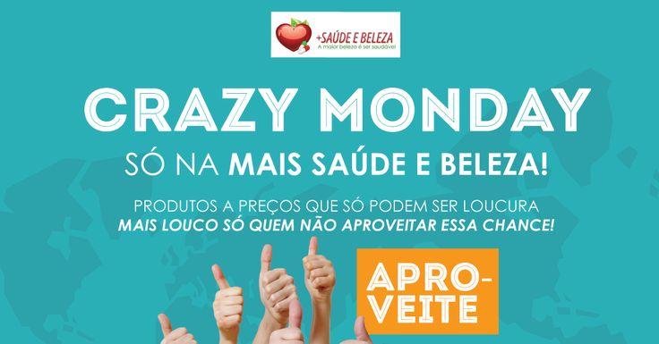 Crazy Monday Mais Saúde e Beleza!  Produtos a um preço que só pode ser loucura!  Confira já!  http://www.maissaudeebeleza.com.br/p/209/kit-omega-3-1000mg---3-potes-com-120-capsulas?utm_source=google+&utm_medium=link&utm_campaign=Omega3&utm_content=post  http://www.maissaudeebeleza.com.br/p/547/maca-peruana-800-mg-c180-comprimidos-da-nutrigold?utm_source=google+&utm_medium=link&utm_campaign=maca-peruana-+Nutrigold&utm_content=post