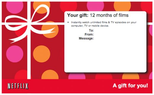 Netflix Gift Subscription!