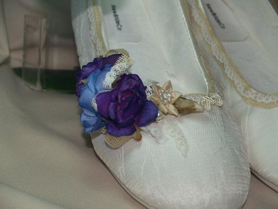 Purple Indigo Blue Rustic Wedding Flat by NewBrideCo on Etsy