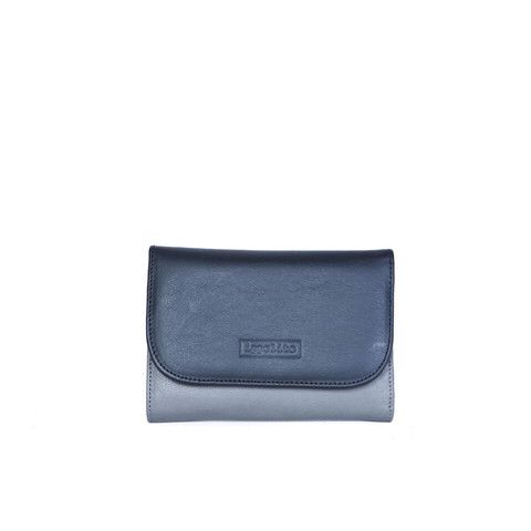 Rawan Wallet in Smoke & Black
