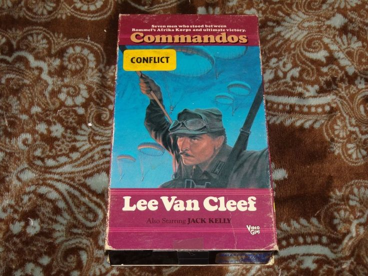 Commandos (VHS, 1980s) Rare OOP Video Gems Slip/Lee Van Cleef Italian War Flick!