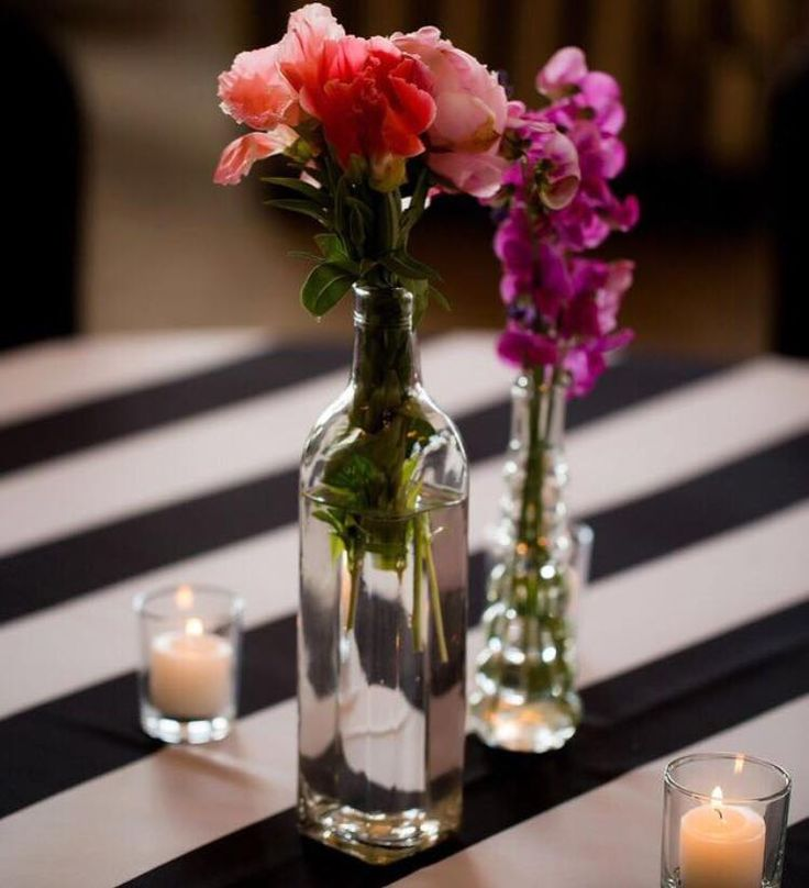 Sometimes simple details go a long way! Love the Black and White Stripe linen