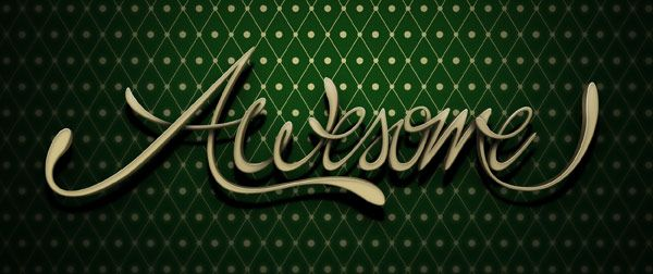 """Marcelo Schultz - Create """"Awesome"""" 3D Style Lettering in Photoshop: Photoshop Tutorial, Tutorials, Illustration, Style Lettering, Design, Create Awesome"""