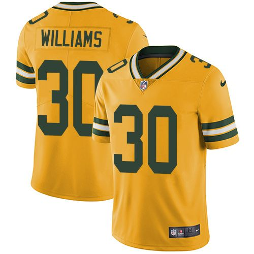 f6686ebe9 ... Nike Packers 30 Jamaal Williams Yellow Mens Stitched NFL Limited Rush  Jersey And Cowboys Vikings Dalvin Cook 33 ...