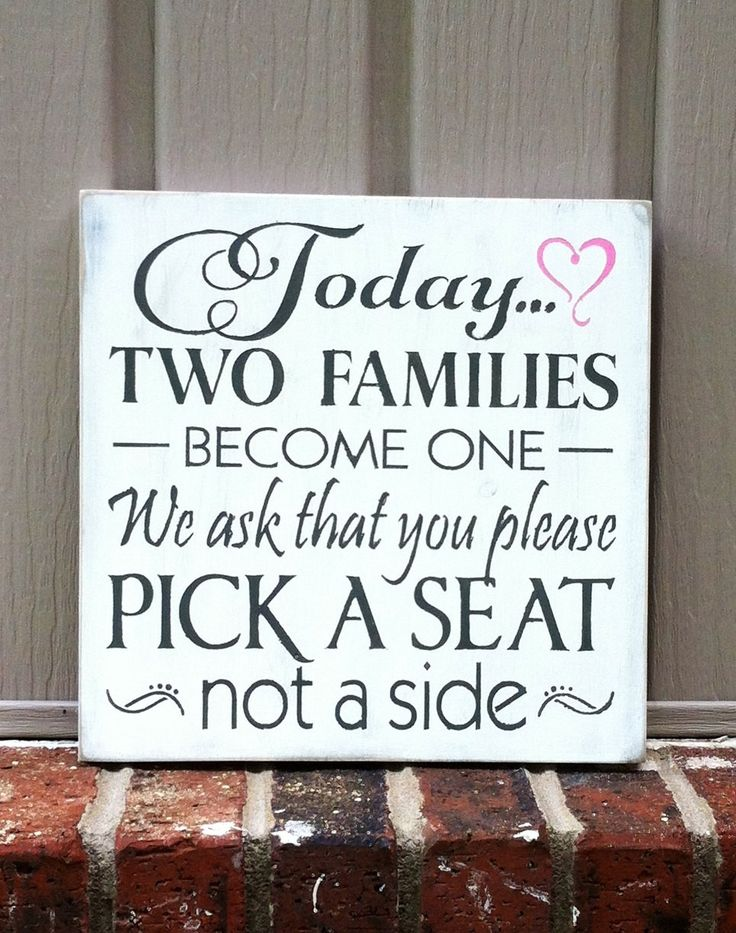 wood wedding sign today two families become by SimpleChicLiving, $25.00