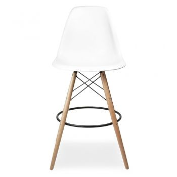 White DSW Style Stool | Cult Furniture UK