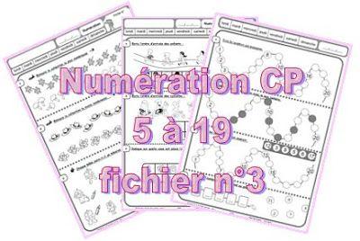 IPOTÂME ....TÂME: CP numération : fiches exercices nombres 1 à 19 troooop bien!! merci