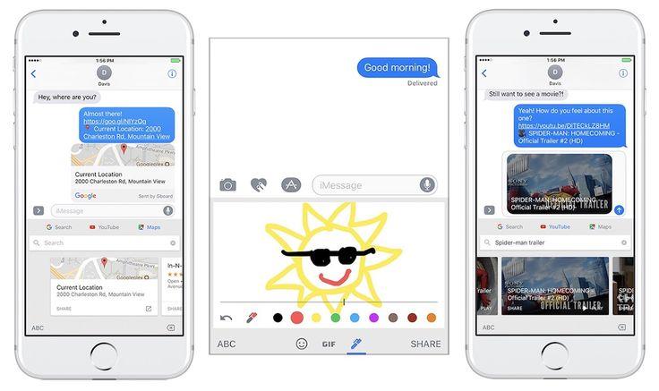 Gboard para iOS Presenta Google Maps, YouTube, y los Garabatos de Tinta de' Fichas En el Teclado de la Aplicación