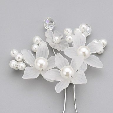 Women's Flower Girl's Crystal Alloy Imitation Pearl Acrylic Headpiece-Wedding Special Occasion Hair Pin 2640855 2017 – $1.79