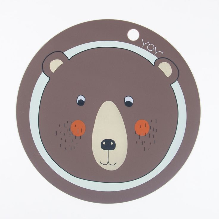 "OYOY ""Bear"" Chocolate-brown Placemat with Bear Print"