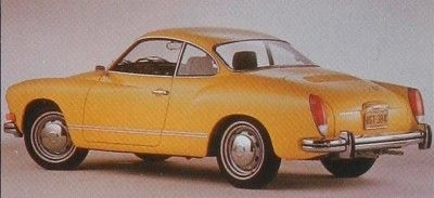The 1972 Karmann-Ghias got heftier bumpers and gained larger taillights. This was the last styling change before the car was discontinued in 1974.  © Volkswagen of America, Inc.