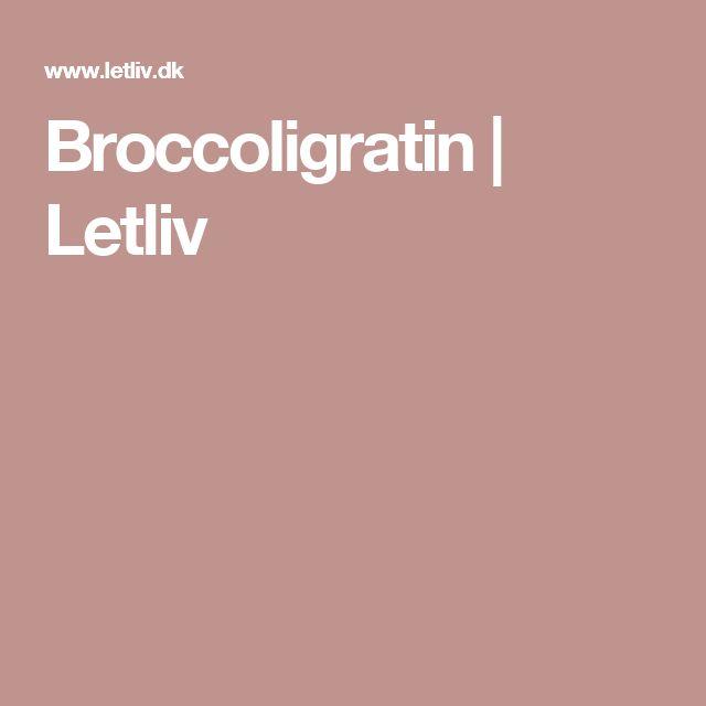 Broccoligratin   Letliv