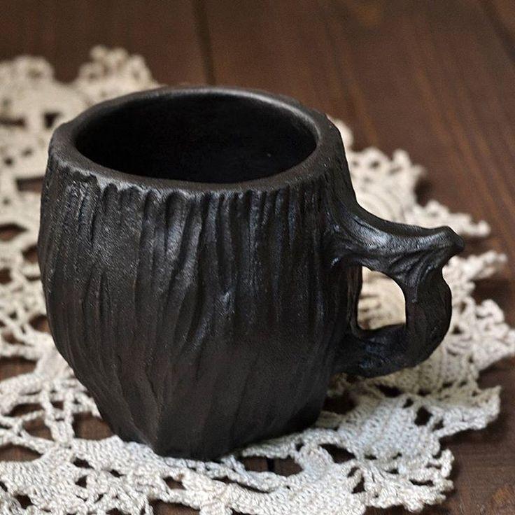 Кружка-пенек Ceramics of artist from Siberia Stanislav Simonov  #pottery #sculpture  #clay #cup #mug #ssimonov #handmademug #handmadecup #керамикаручнаяработа…#керамикатюмень #керамикадлядома  #ручнаяработа #гончарная…
