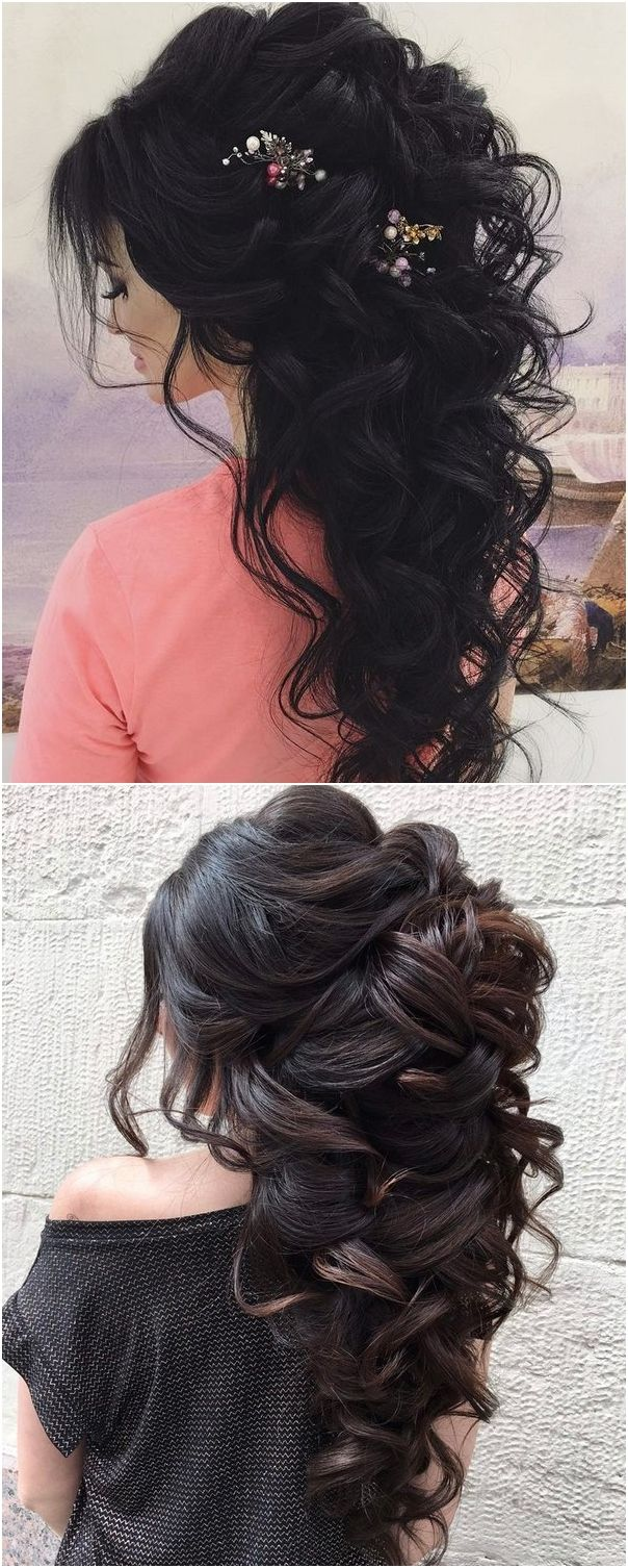 Long wedding updos and hairstyles from Elstile #weddings #weddingideas #hairstyles / http://www.deerpearlflowers.com/new-long-wedding-hairstyles-updos/4/